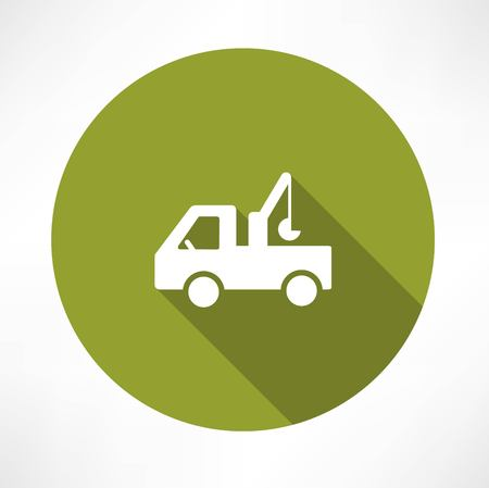 tow truck: car with a crane icon