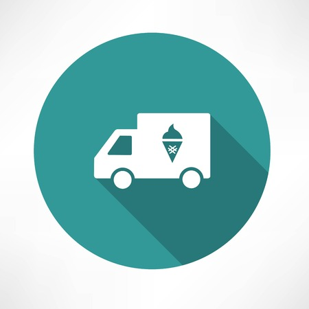 delivery truck: ice cream truck icon