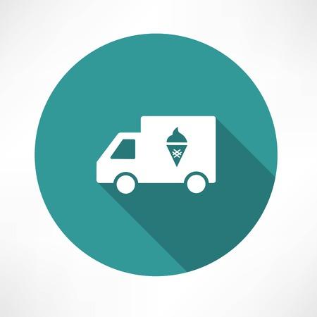 ijscowagen pictogram Stock Illustratie