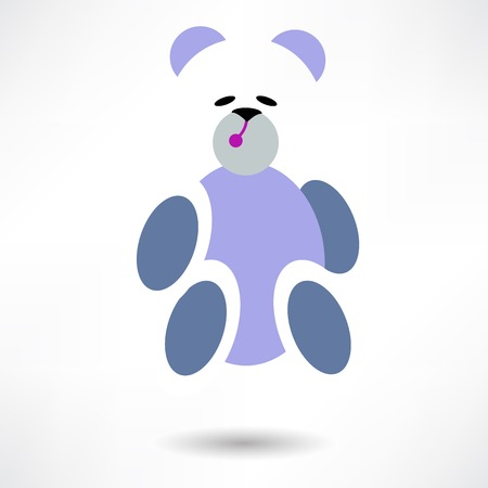beanbag: Vector toy icons. Baby toys