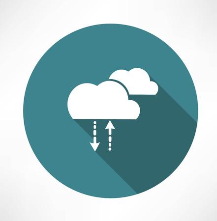 precipitation: cycle of precipitation icon