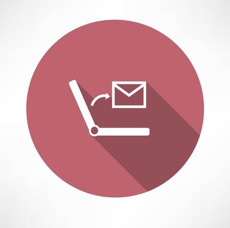 wireless icon: SMS on Laptop icon