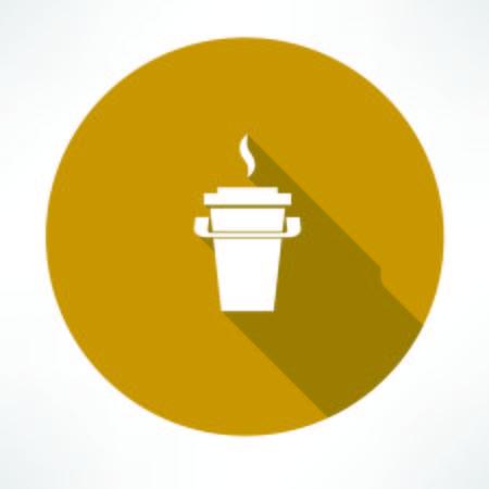 paper coffee cup icon Illusztráció
