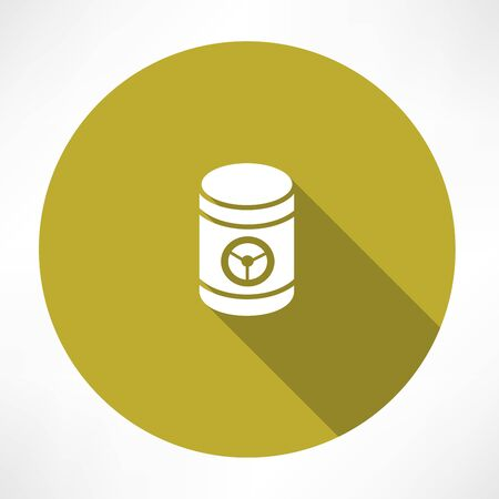 barrel with danger signs icon Vector