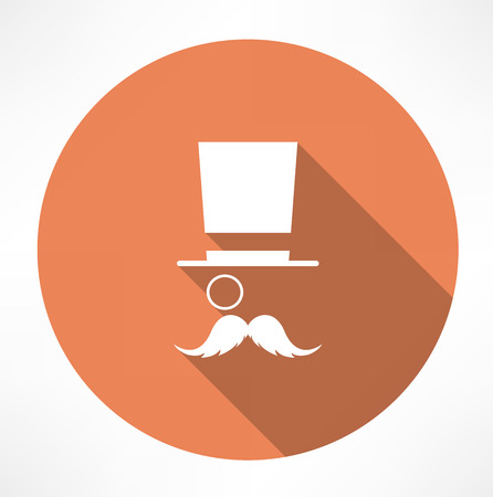 wc sign: Gentleman vector icon Illustration