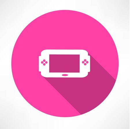 Portable game console icon Vector