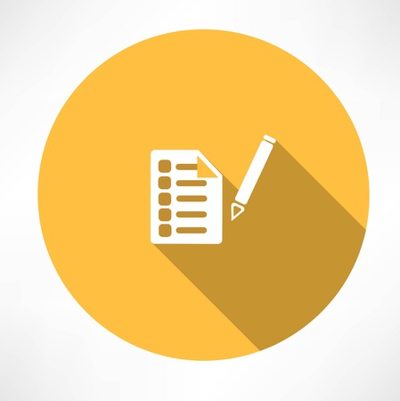 todo list: sheet test icon Illustration
