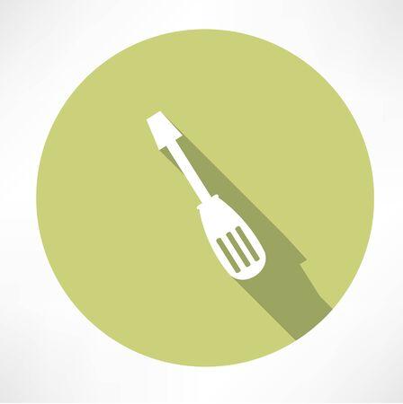 slotted: spatula icon Illustration
