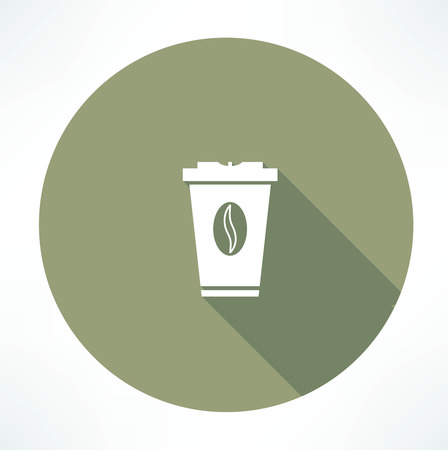 plastic cup with coffee icon