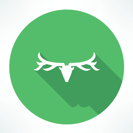 deer head icon Illustration
