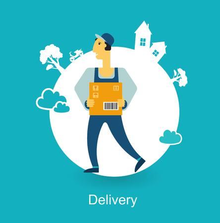 loader bears box icon Illustration