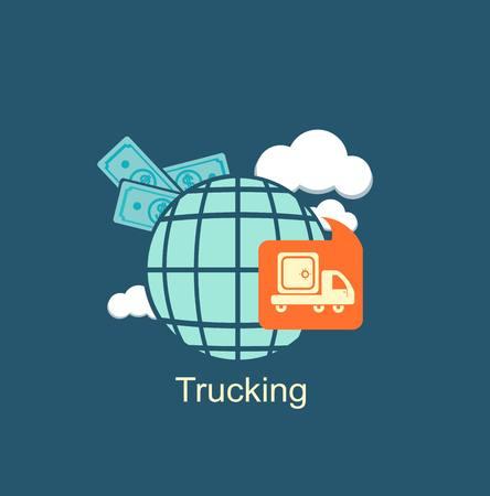 trucking money icon