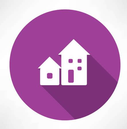 rural development: houses icon