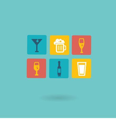 alcoholic drinks icon Illustration