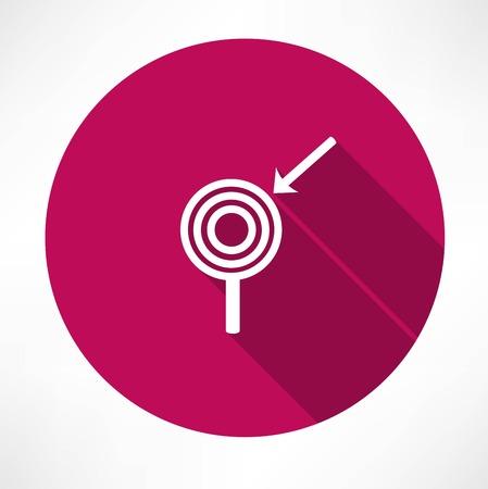 ziel icon: Pfeil mit dem Zielsymbol
