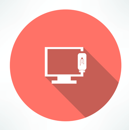 Tv-pictogram van het apparaat Stockfoto - 32473351