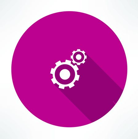business graphics: gears icon