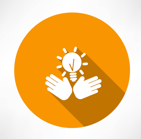 idea in the hands icon Vector