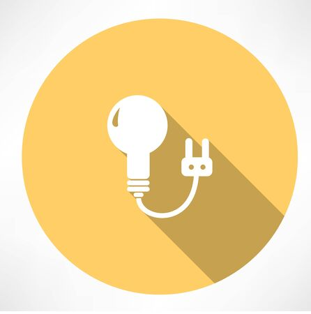 lamp with charging icon Vector