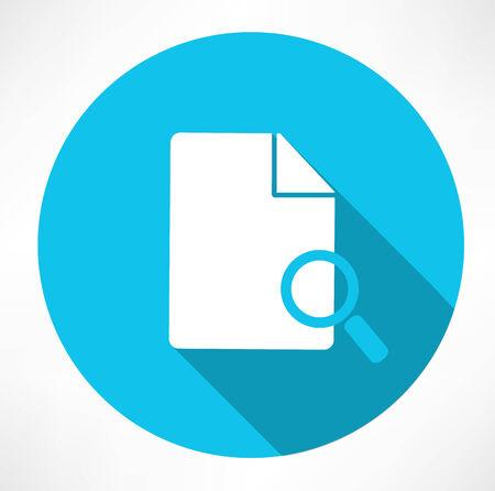 specific: Search document icon Illustration
