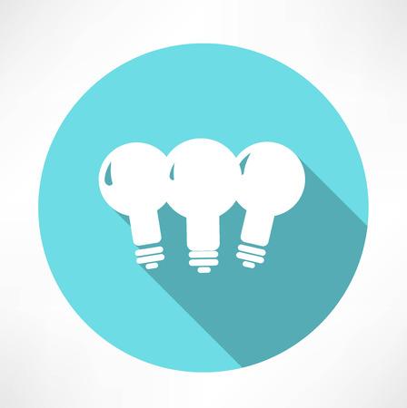 three lamp icon Vector