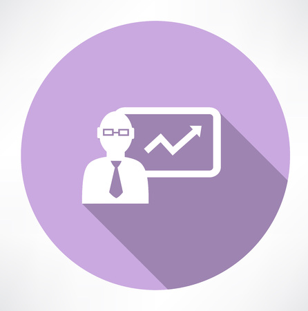 financial figures: businessman about statistics icon