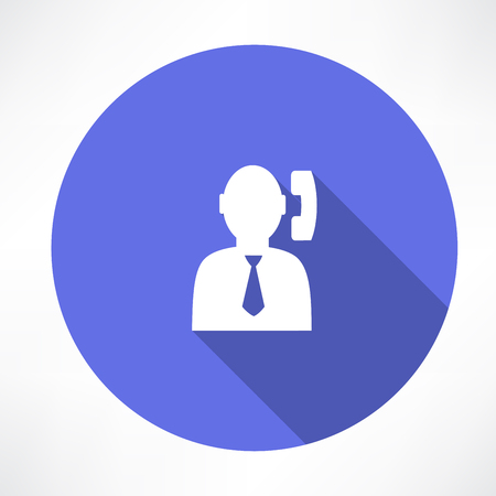 Office man with phone Vector