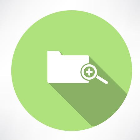 addendum: Zoom folder icon Illustration
