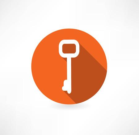 Key  icon, vector illustration. Flat design style Vector
