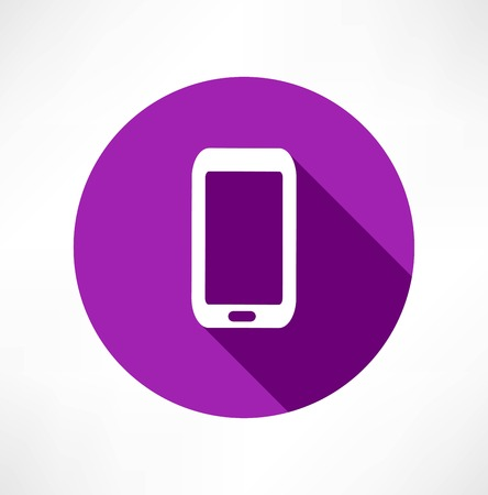 smartphone: smartphone flat icon Illustration