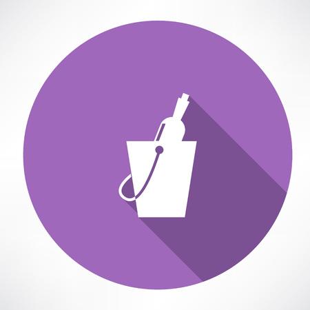 bottle in a bucket icon
