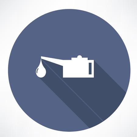 emulsifier: Oiler single flat icon