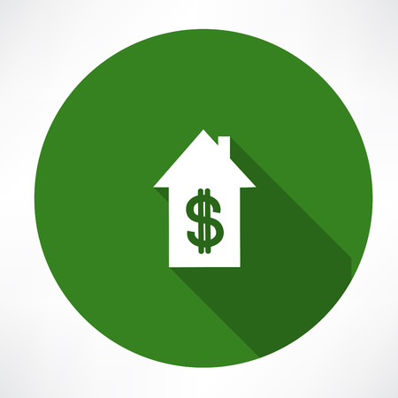 House and dollar Vector