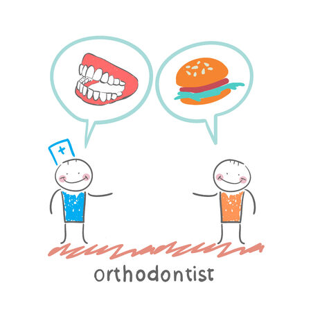 says: orthodontist says to the patients teeth and eating