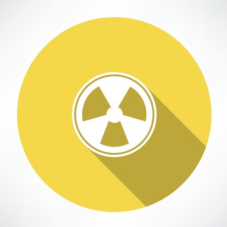 radioisotope: Radiation sign icon