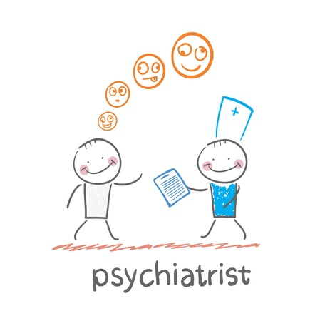 psychiatrist says a patients illness Illustration