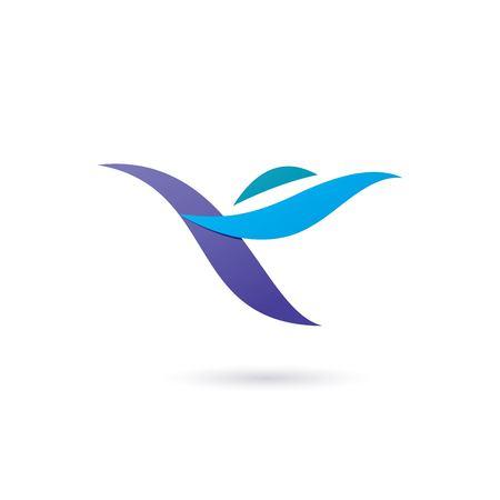 Bird abstract logo template.
