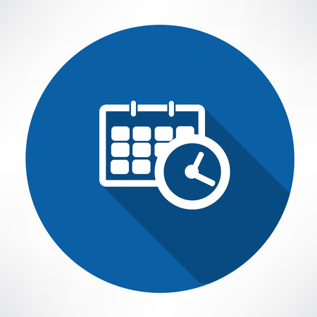 time clock: calendar with clock icon