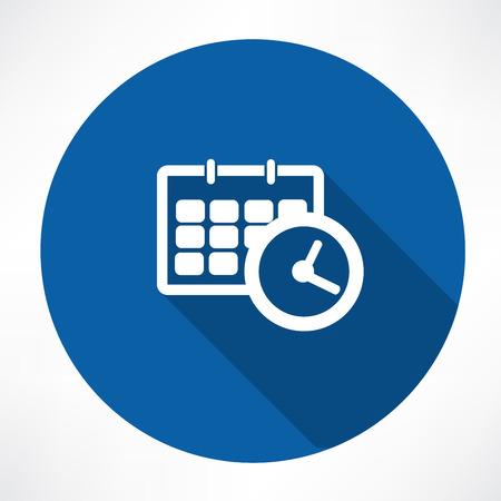 Kalender mit Uhr-Symbol Standard-Bild - 32482226