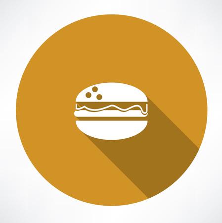 sesame seed: Burger  icon Illustration