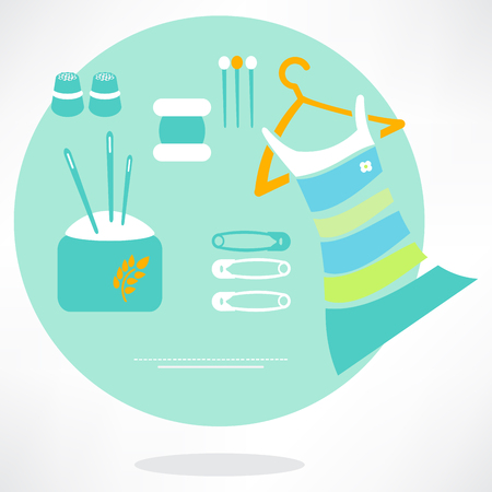 sewing icons set - vector illustration. eps 10 Vector