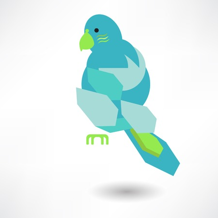 Vector Stylish Abstract Bird Of Leaves Icon