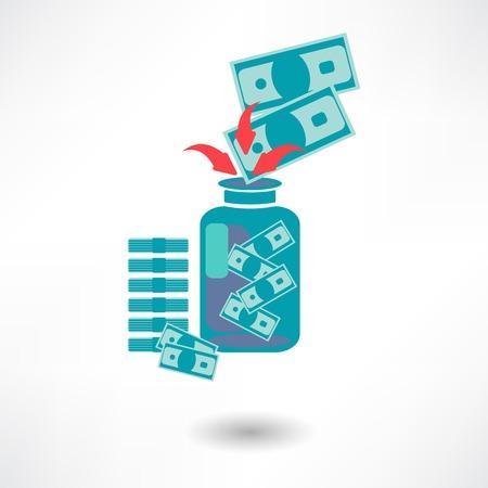 Vector money jar icon Illustration