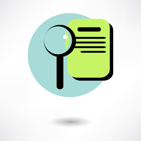 Vector illustration of search concept with check list on clipboard and magnifying glass Vector