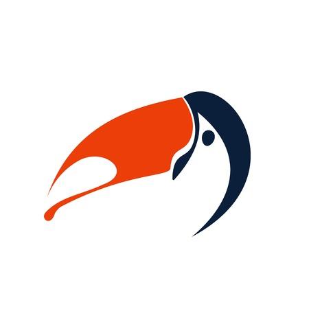 bird logo: Toucan logo template. Bird icon