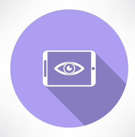 smartphone: smartphone with Eye icon Illustration