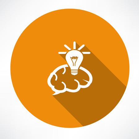 innovator: Brain Icon with Light Bulb