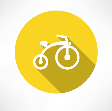 adolescent: child bike flat
