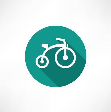 ni�os en bicicleta: Ni�os bicicleta icono plana