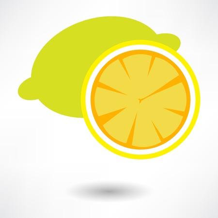 Icona di limone Archivio Fotografico - 32482455
